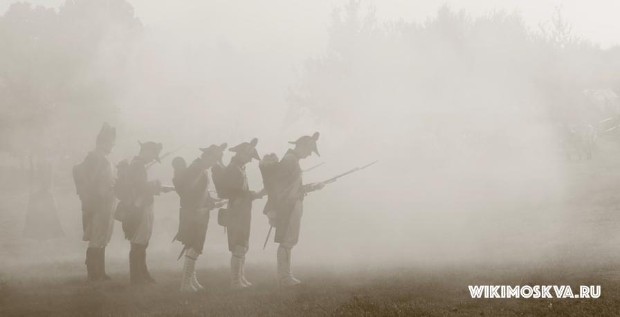 Армия Наполеона в Москве.